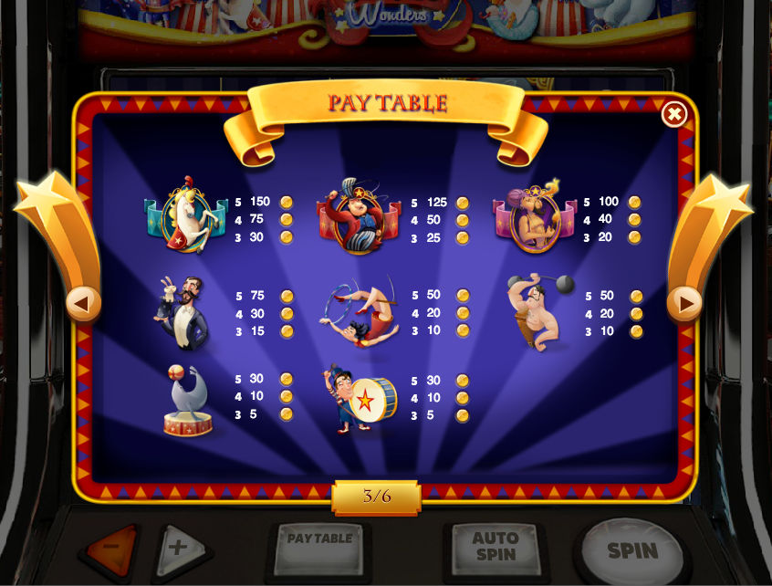 Circus Wonders Slot - Free to Play Online Demo Game