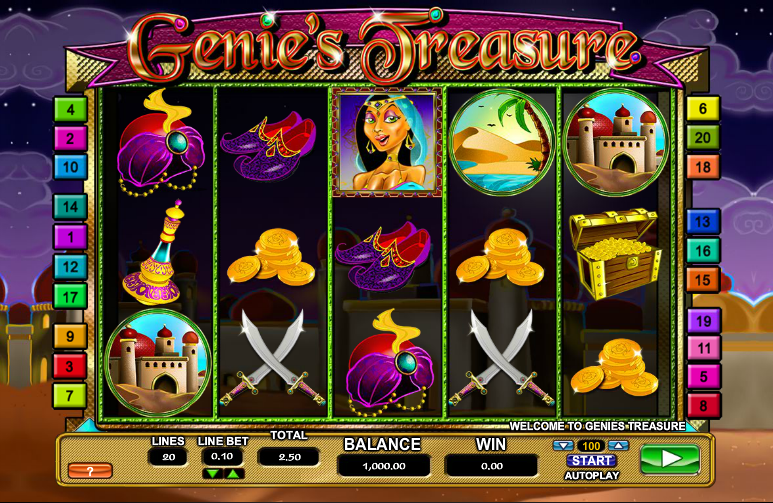 Genies Treasure Slot - Review and Free Online Game