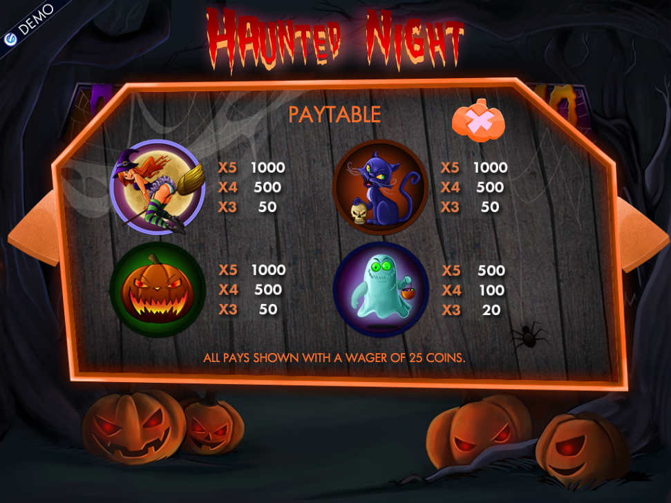 Scary Night Slots - Play Free Vista Gaming Slot Games Online