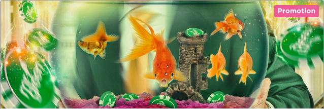 mr green golden fish tank