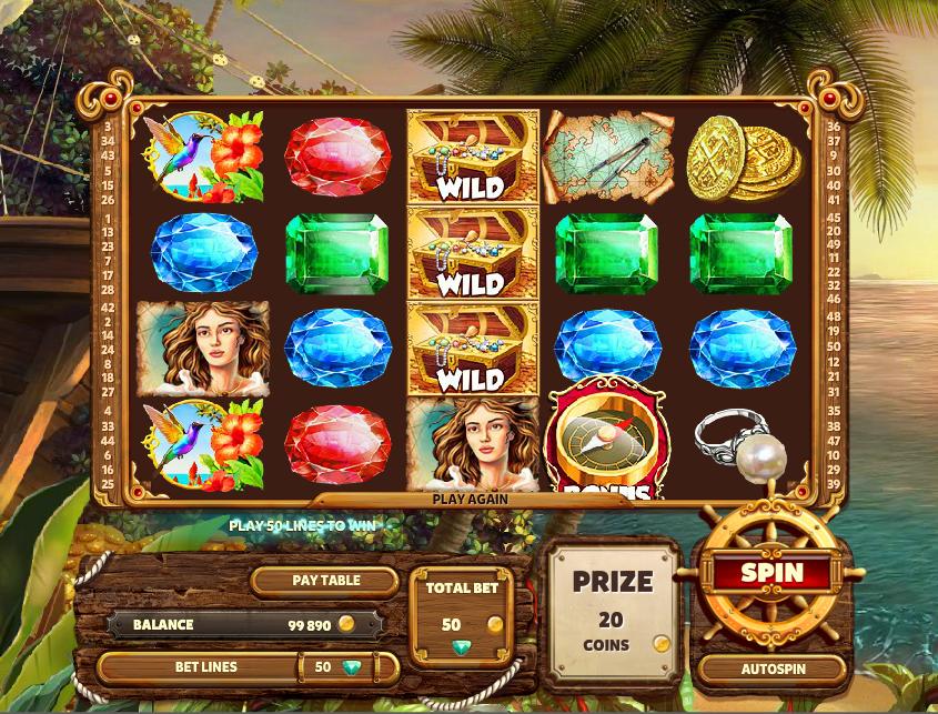 Caribbean Treasure Slot Machine