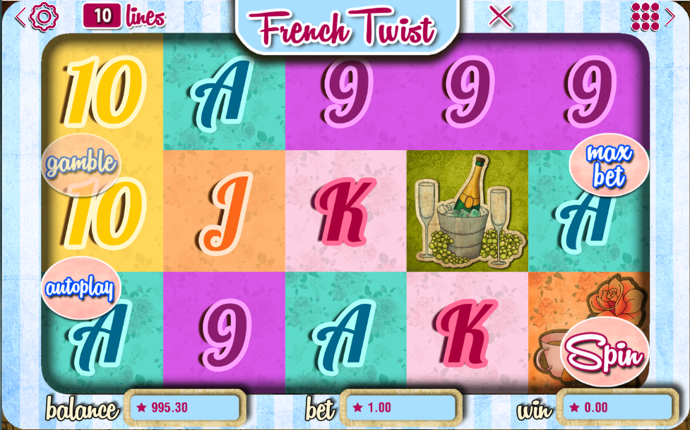 French Twist Slots Review & Free Instant Play Casino Game
