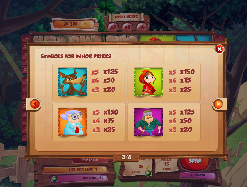 online slot machine games red riding hood online