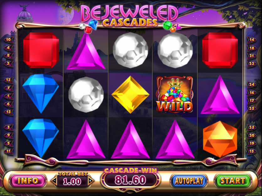 Bejeweled Cascades Slot Machine - Play for Free Online Today