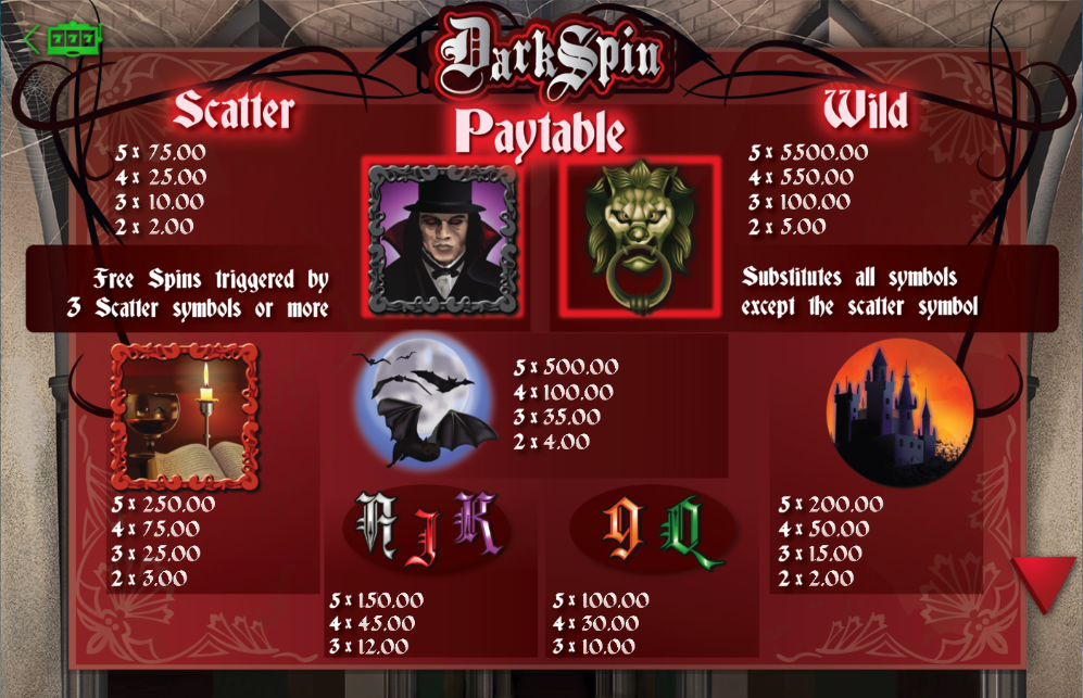 Dark Spin Slots - Review & Play this Online Casino Game