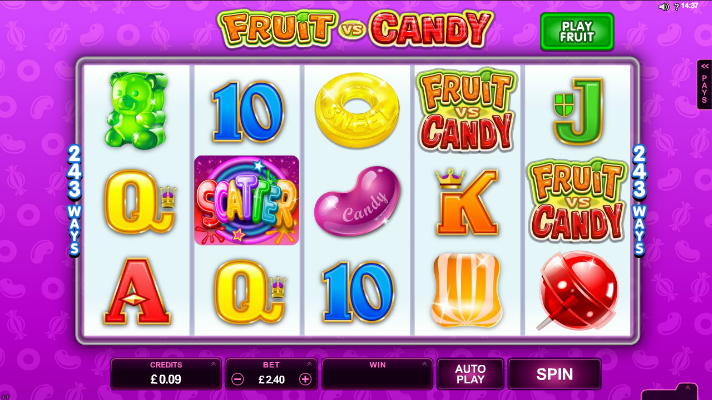 Fruit Vs Candy Slots