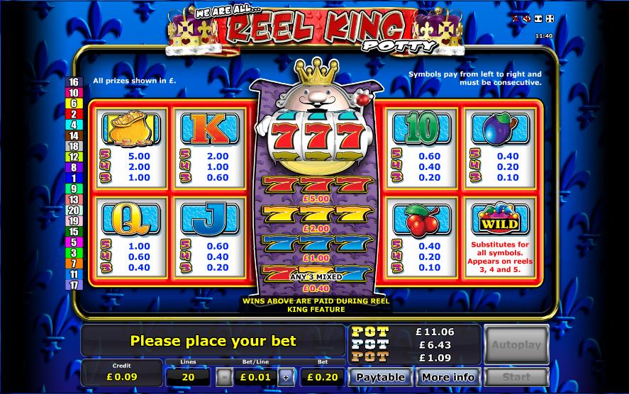 Reel king slots free play