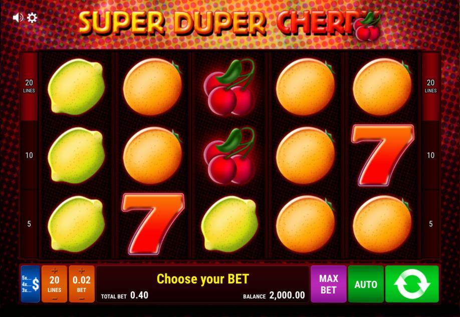 super duper cherry casino