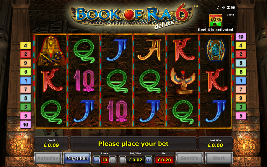 Book of Ra deluxe 6 - Casumo Casino