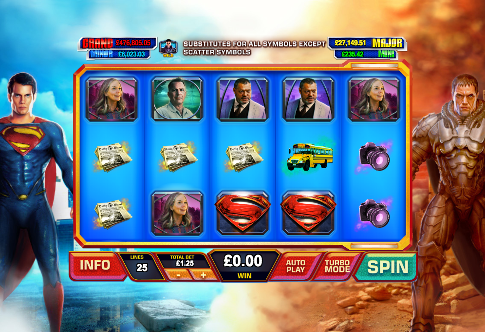 Superman Man of Steel Slot - Play Online Slots for Free