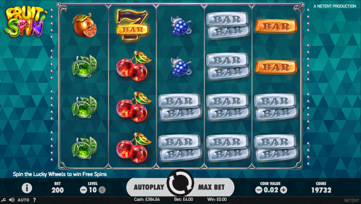 fruit spin screenshot