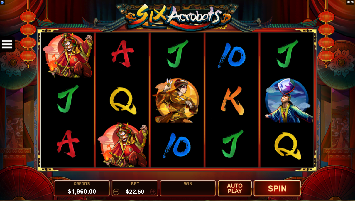 Six Acrobats Slot - Play for Free Online with No Downloads