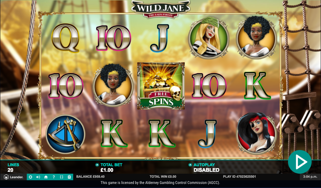 Spiele Wild Jane, The Lady Pirate - Video Slots Online