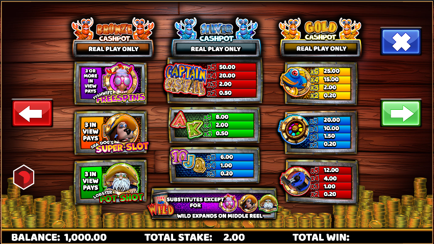 Spiele Captain Cashfall - Video Slots Online