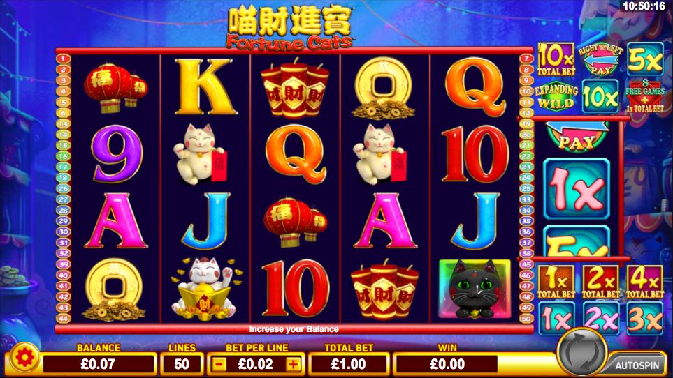 fortune cats screenshot