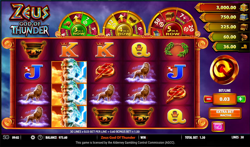 Zeus God of Thunder Slot - Play Now for Free or Real Money