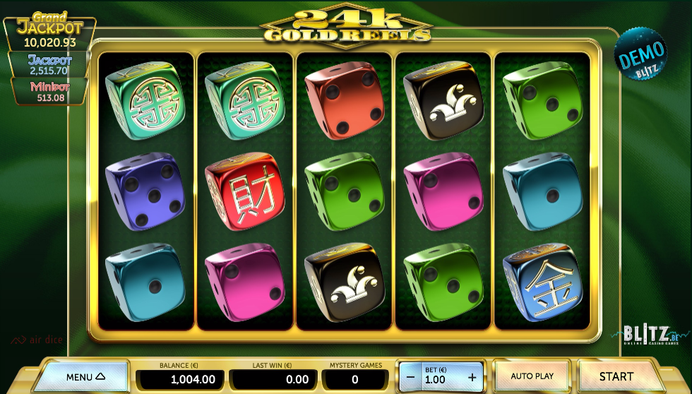 24K gold reels screenshot