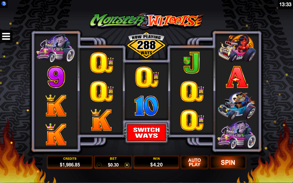 monster wheels screenshot