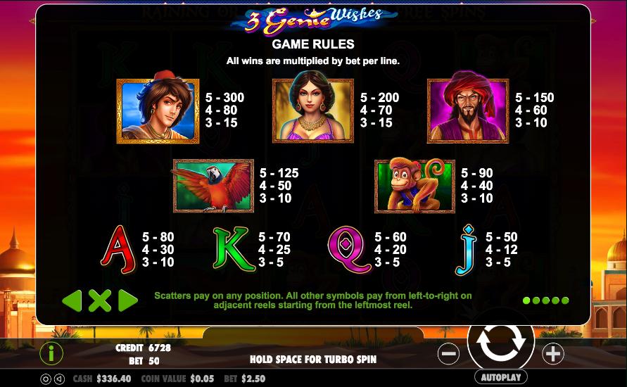 Genie Wishes Slot - Play Free Casino Slot Machine Games