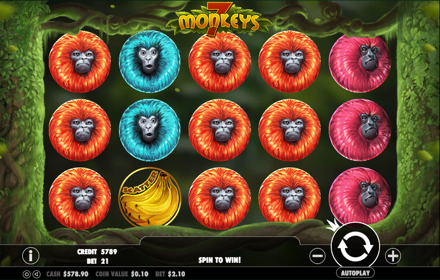 7 monkeys screenshot
