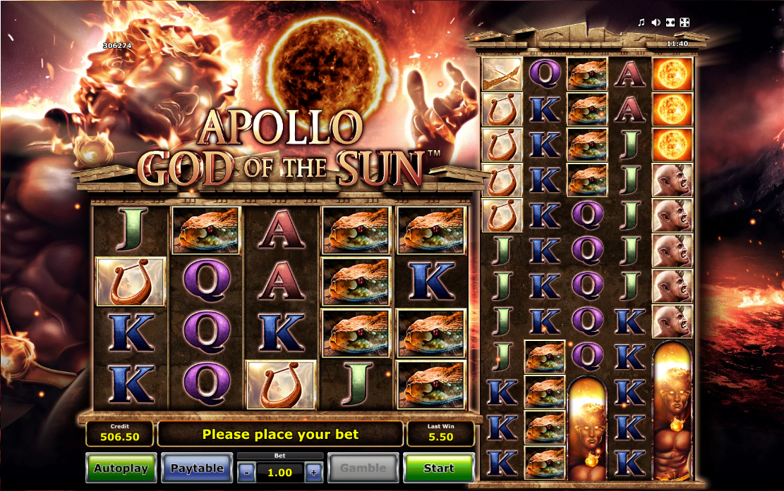 apollo god of the sun screenshot