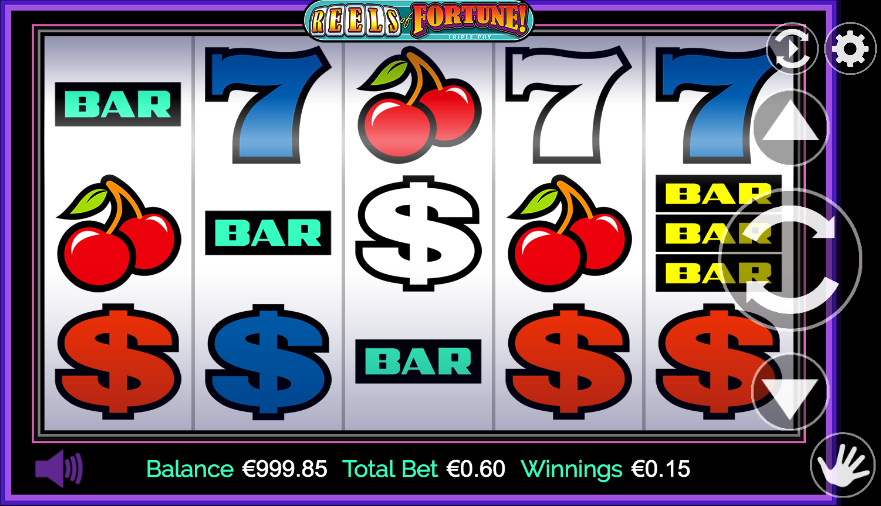 reels of fortune triple pay screenshot