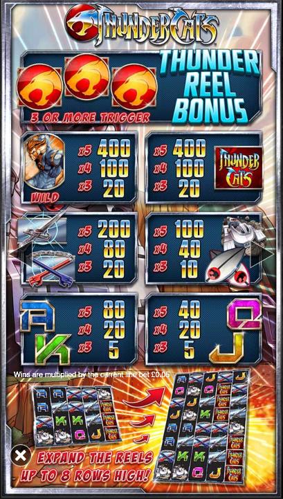 Spiele Thundercats - Video Slots Online