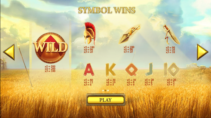 Wild Spartans Slots Review & Free Instant Play Game