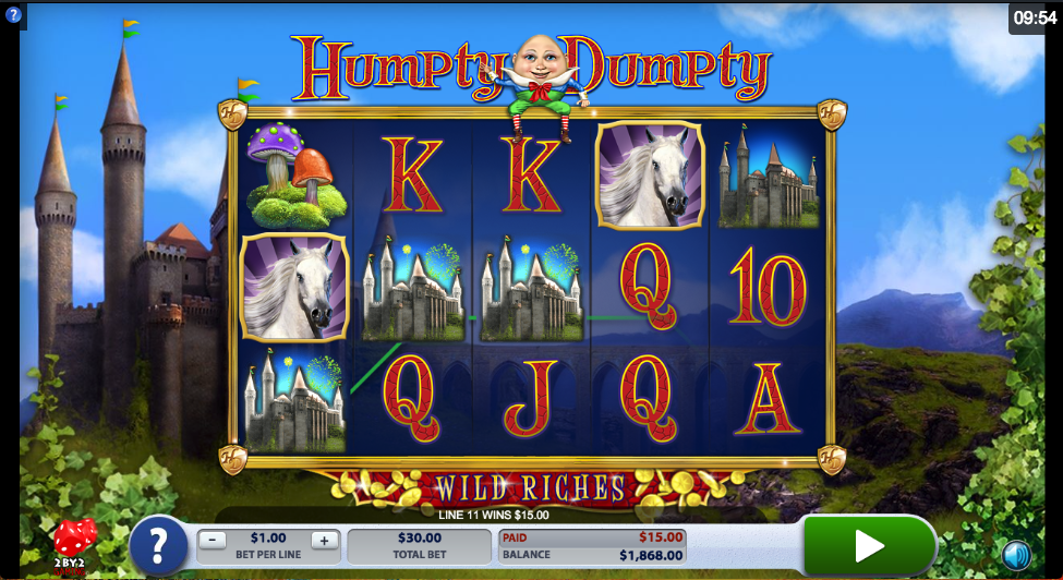 humpty dumpty wild riches screenshot