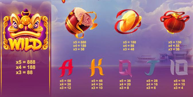 Lion dance slot machine online
