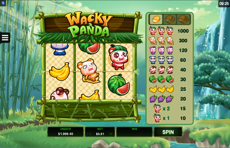 wacky panda screenshot