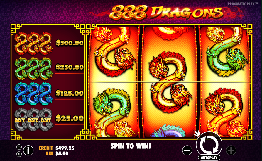 888 dragons screenshot