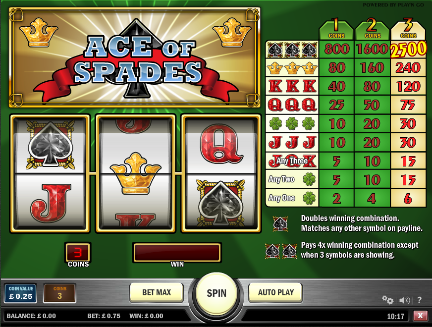 ace of spades screenshot