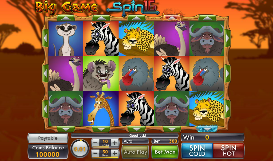 big game spin 16 screenshot