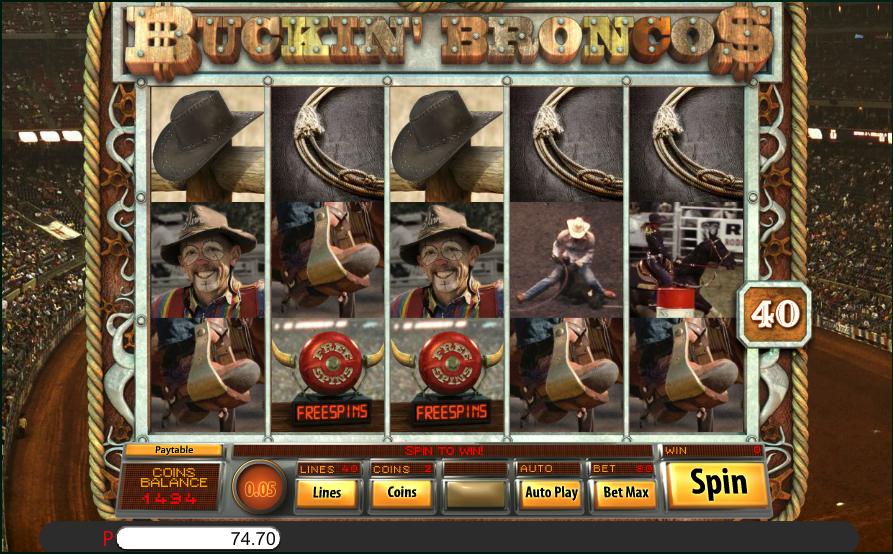 buckin broncos screenshot
