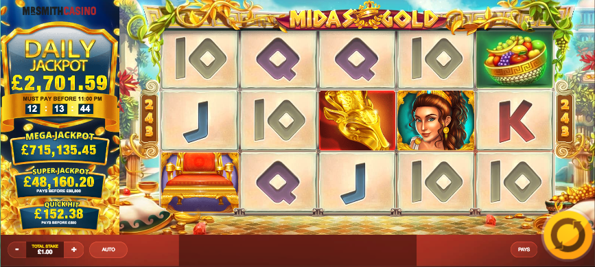 midas gold screenshot