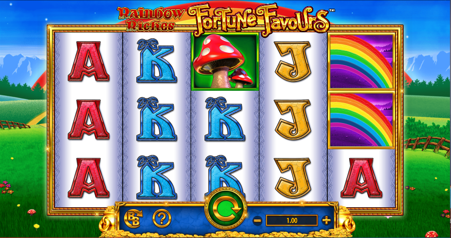 rainbow riches fortune favours screenshot