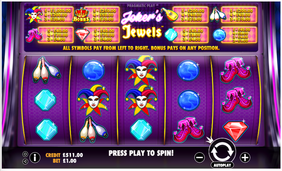 jokers jewels screenshot