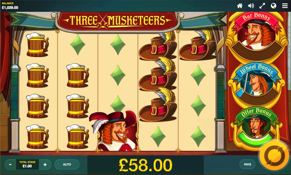 three musketeers screenshot