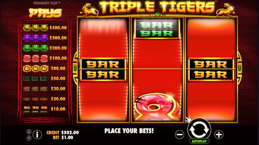 triple tigers screenshot