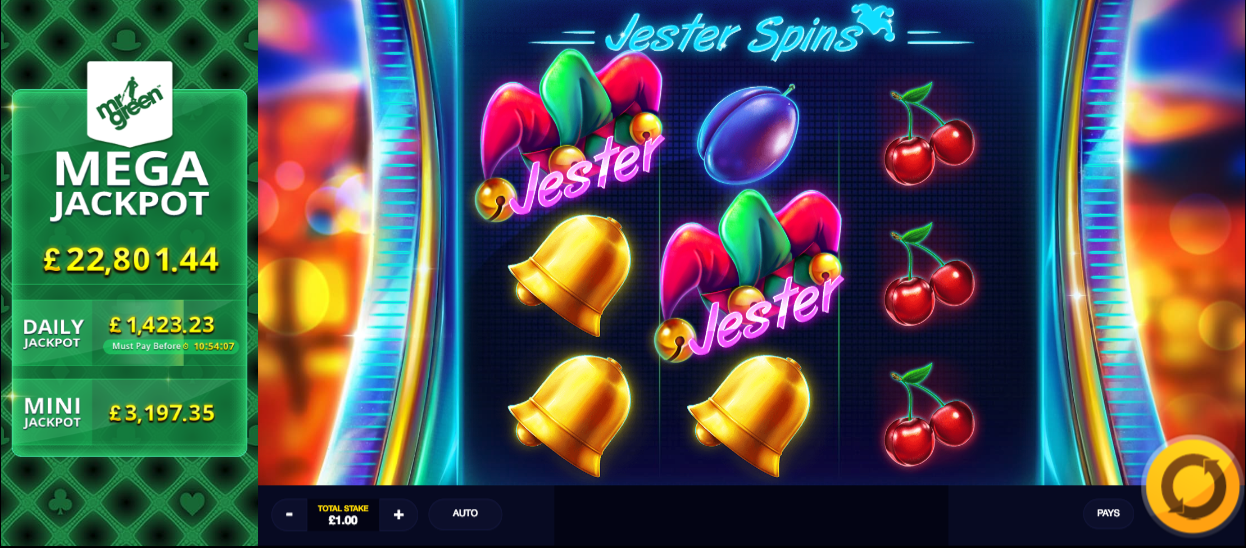jester spins screenshot