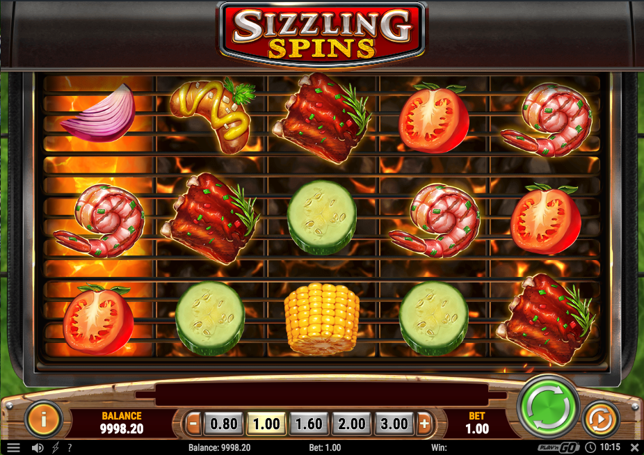 sizzling spins screenshot