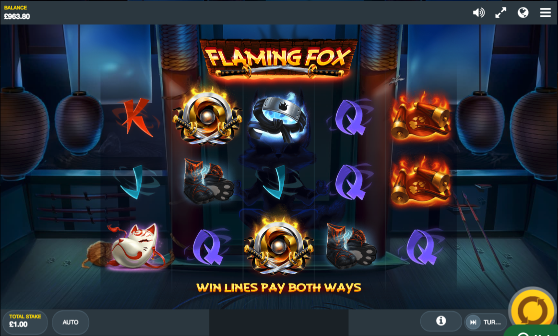 flaming fox screenshot
