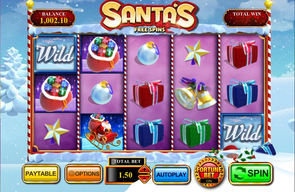santas free spins screenshot