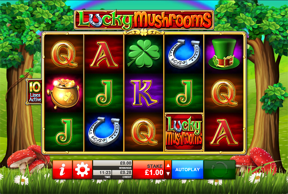 lucky mushrooms screenshot