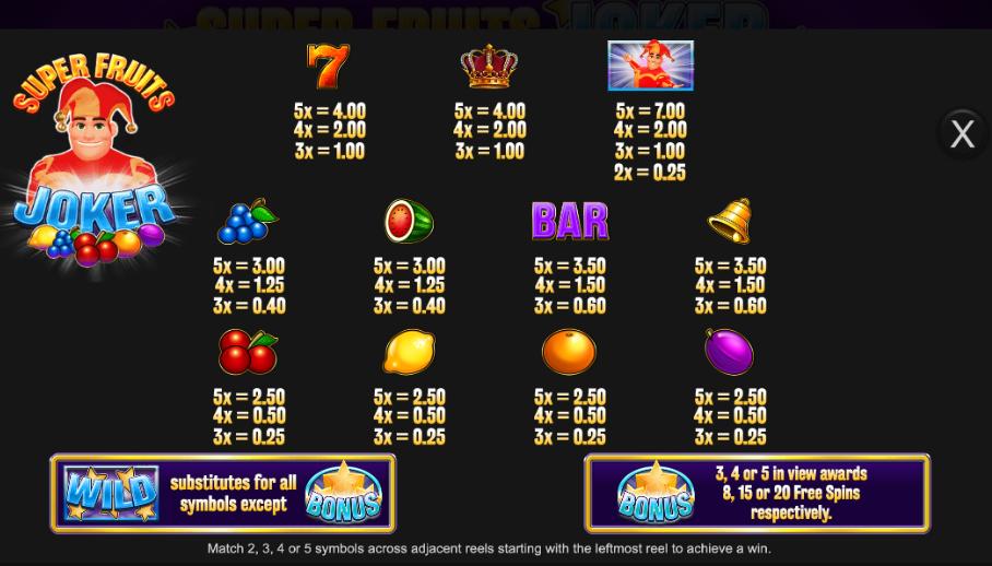 Spiele Super Fruits Joker - Video Slots Online