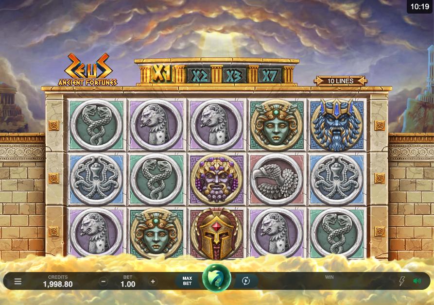 ancient fortunes zeus screenshot