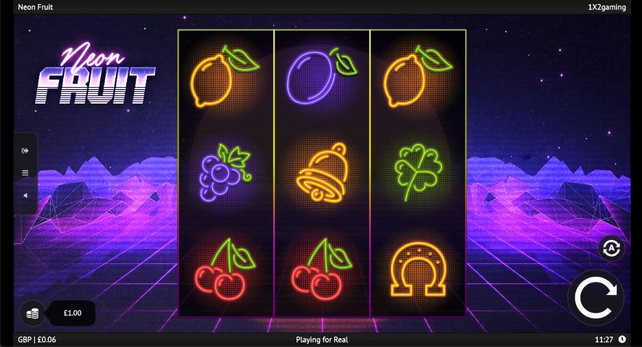 neon fruit screenshot