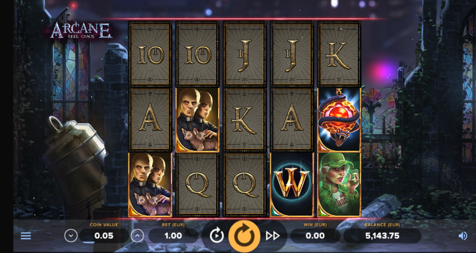 arcane reel chaos slot screenshot