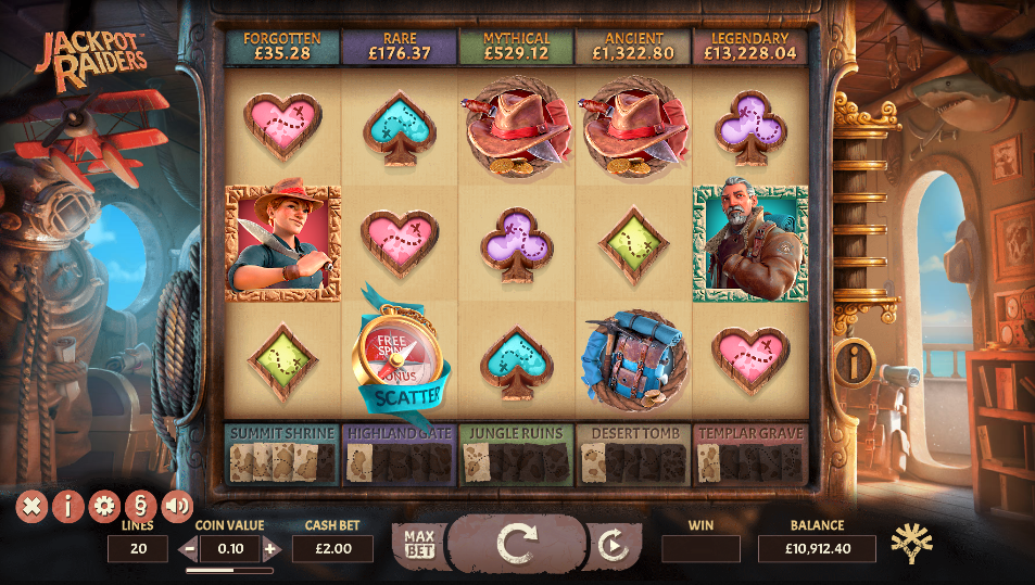 jackpot raiders screenshot